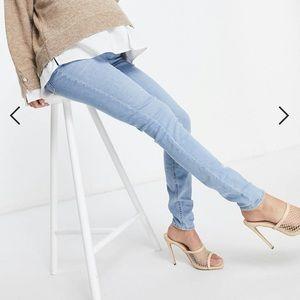 Asos Design Maternity High Rose Skinny Jeans